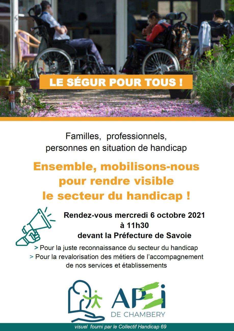 Mobilisation du 6 octobre à 11h30 devant la Préfecture de la Savoie, Place Caffe à Chambéry.